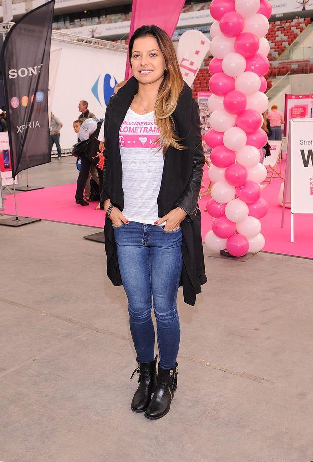 Anna Lewandowska w czasie fina�u imprezy charytatywnej FOTO