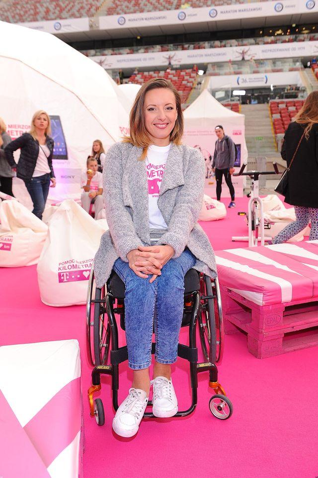 Anna Lewandowska w czasie finału imprezy charytatywnej FOTO