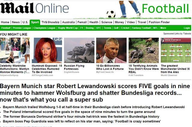 Szaleństwo! Lewandowski strzelił 5 goli w 9 minut!