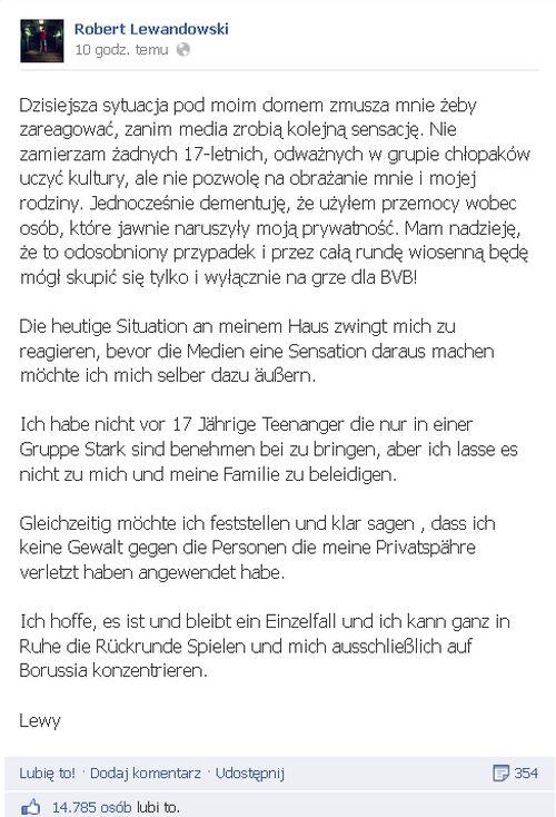 17-latek oskar�a Lewandowskiego o pobicie