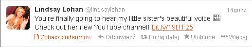 Lindsay Lohan chwali si� talentem wokalnym siostry (VIDEO)