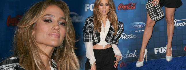 Jennifer Lopez w szortach pokazuje brzuszek (FOTO)