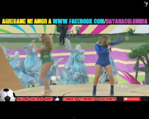 Jennifer Lopez zakr�ci�a pup� na otwarciu mundialu [VIDEO]