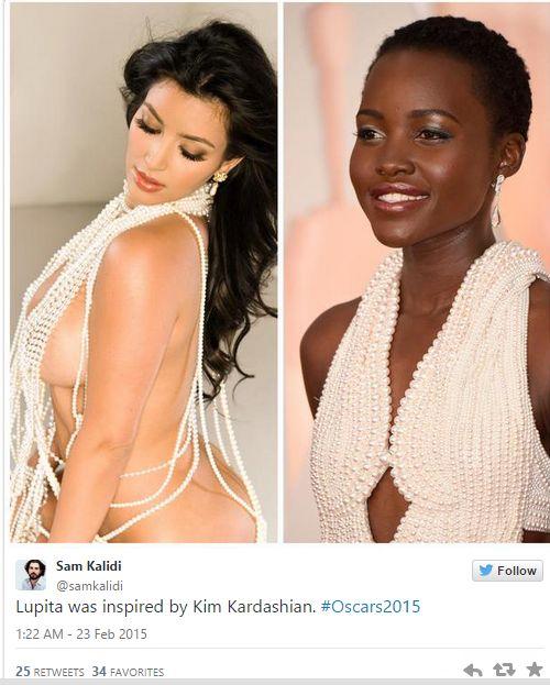 Lupita na Oscarach porównana do Kim Kardashian (FOTO)