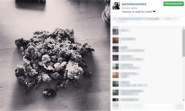 Marihuana na Instagramie Luxurii Astaroth? (FOTO)