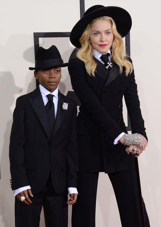 Madonna zabrała syna na Grammy (FOTO) dzieci gwiazd