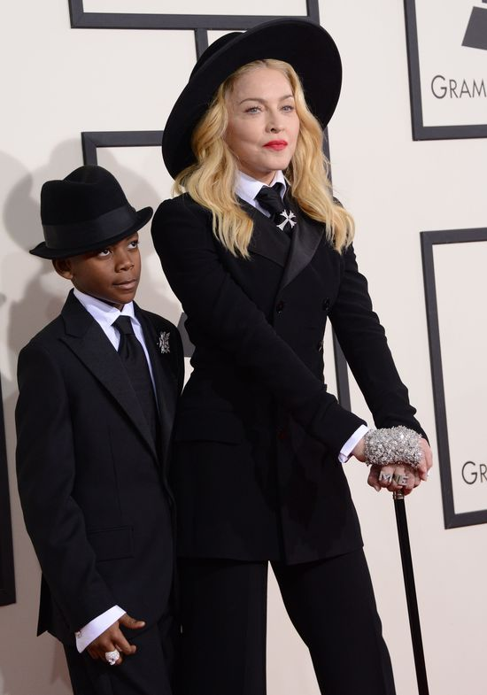 Madonna zabrała syna na Grammy (FOTO) David Banda