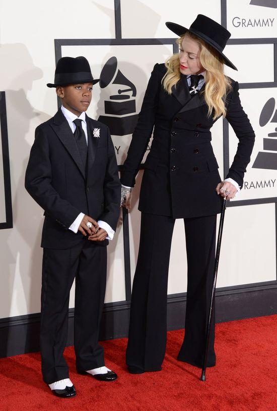 Madonna zabrała syna na Grammy (FOTO)