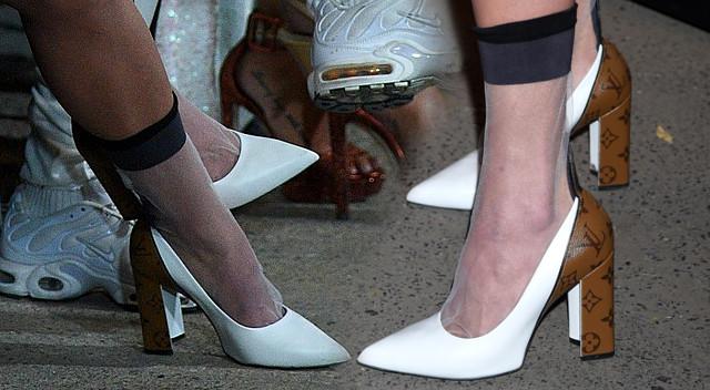 Do pantofli od Louisa Vuittona założyła skarpetki – będzie nowy trend? (ZDJĘCIA)