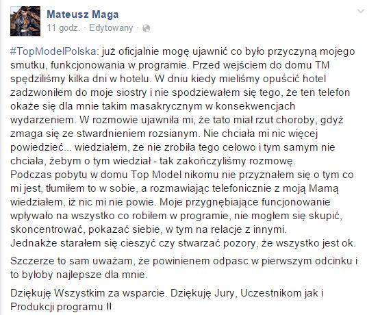Mateusz Maga z Top Model już odniósł pierwszy sukces (FOTO)