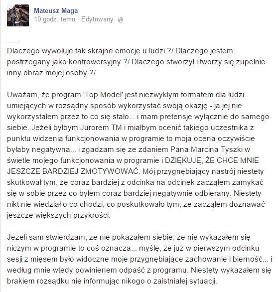 Mateusz Maga odpowiedział na ostrą krytykę Marcina Tyszki