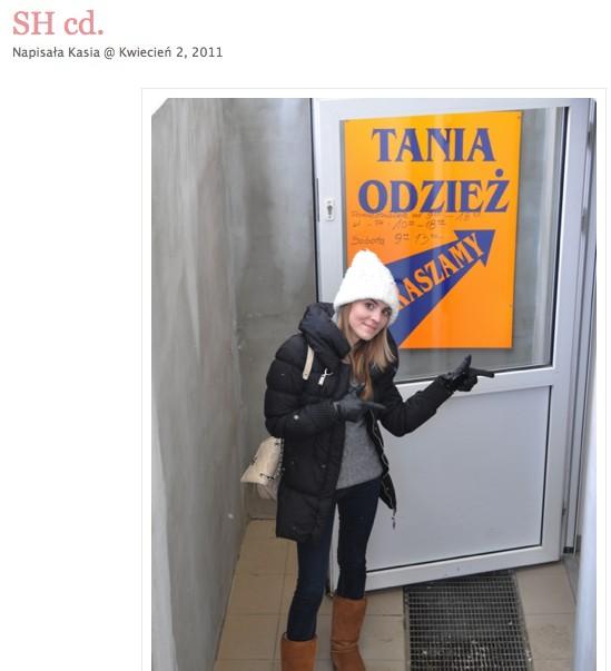 Dawno temu, gdy Kasia Tusk odwiedzała lumpeksy