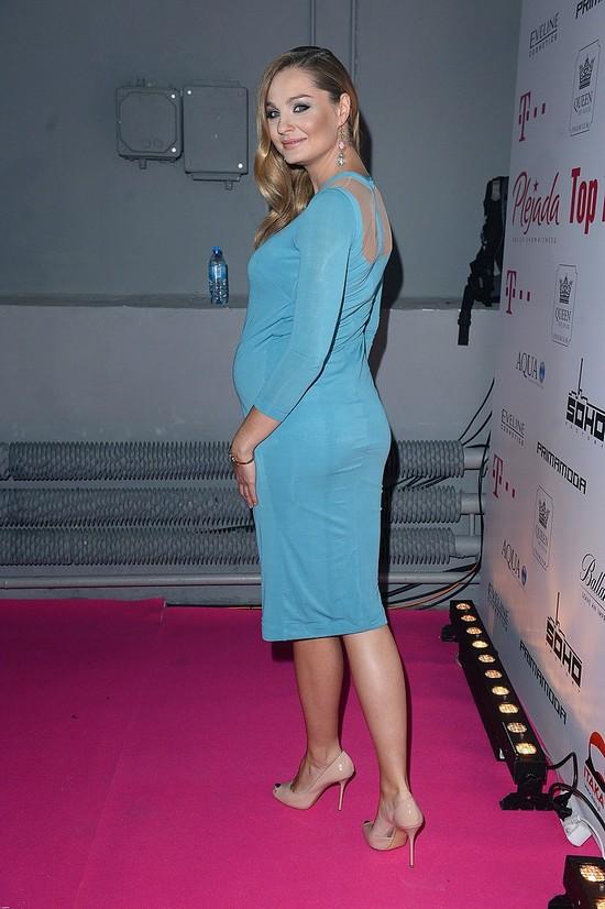 Małgorzata Socha ma już bardzo duży brzuszek.