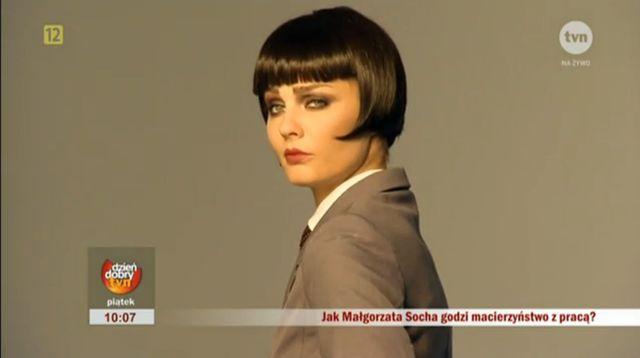Co powiecie na Małgorzatę Sochę w ciemnych włosach? (VIDEO)