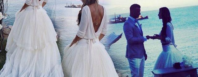 Suknia ślubna Sary Mannei nie była