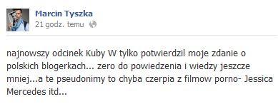 Co Marcin Tyszka myśli o polskich blogerkach?