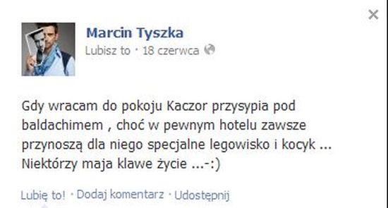 Marcin Tyszka  kąpie swojego... ptaka (FOTO)