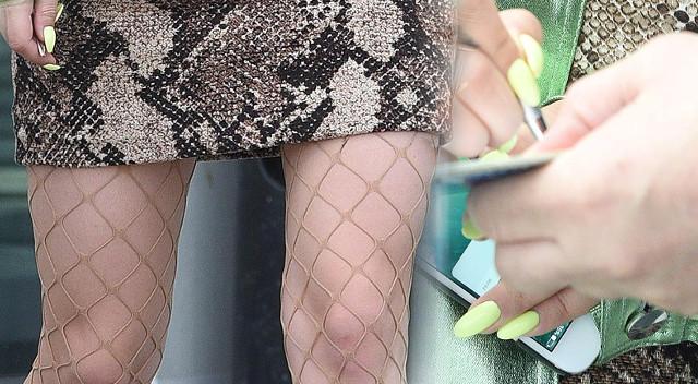 Pierwsza była Jessica Mercedes, teraz modne rajstopy nosi inna gwiazda (ZDJĘCIA)