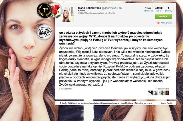 Maria Soko�owska o �ydach i homoseksualistach