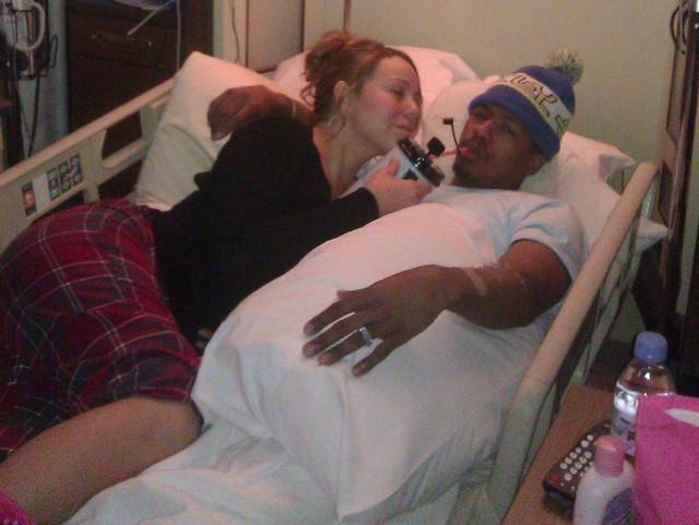 Mariah Carey pociesza męża w szpitalu (FOTO)