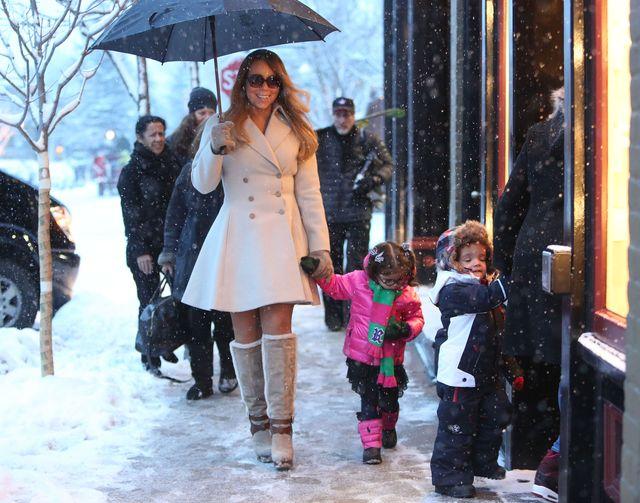 Mariah Carey z dzie�mi na �wi�tecznych zakupach (FOTO)