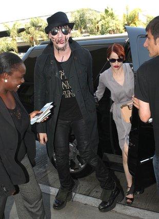 Marilyn Manson z dziewczyną i… twarzowym przekazem (FOTO)