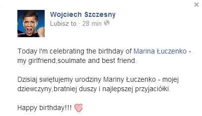 Wojtek Szczęsny i Marina mają powody do świętowania (FOTO)