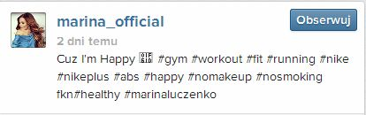 Marina pokazuje ciało na siłowni (VIDEO)