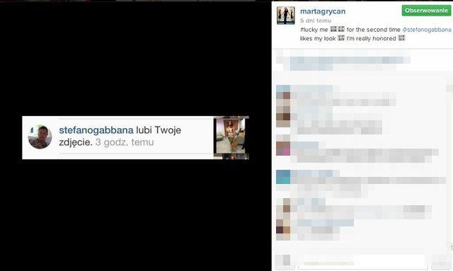 Stefano Gabbana docenił Martę Grycan (FOTO)