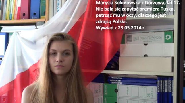 Marysia Sokołowska: Jestem patriotką i walczę o wolną Polskę