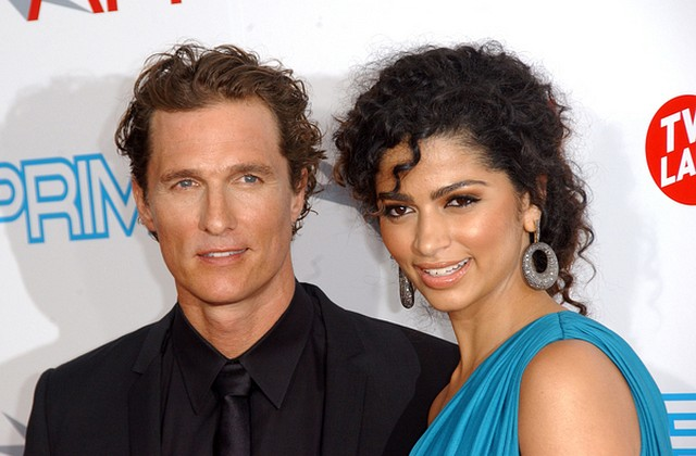 Ślubne zdjęcie Matthew McConaughey i Camilli Alves