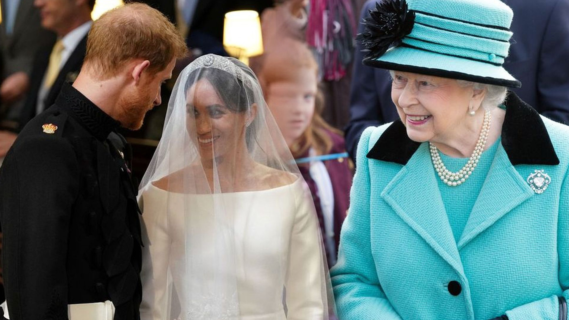 Królowa Elżbieta była ZASKOCZONA tym, że Meghan założyła BIAŁĄ suknię ślubną