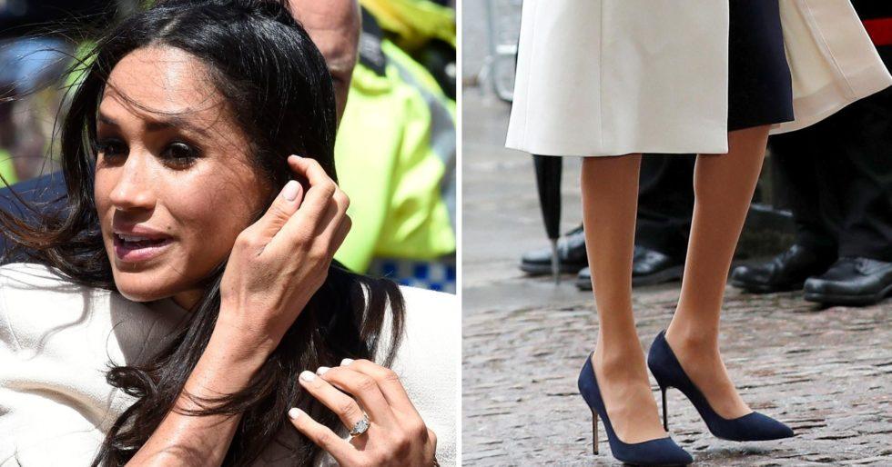 9d5606849 Dlaczego Meghan Markle nosi ZA DUŻE buty? - Kozaczek