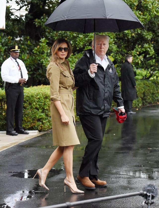 Seksowna Melania Trump pomaga ofiarom huragany