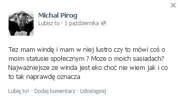 Michał Piróg nabija się z Dawida Wolińskiego?