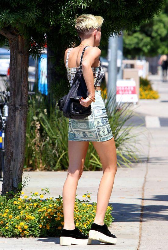 Miley Cyrus ca�a w dolarach (FOTO)
