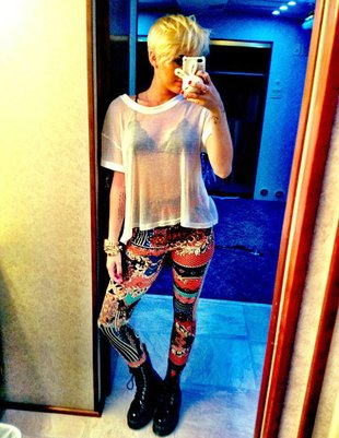 Miley Cyrus w odważnej stylizacji (FOTO)