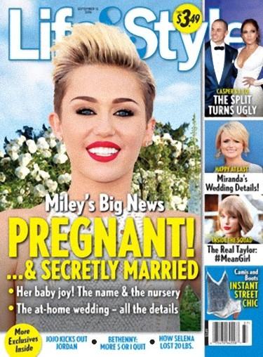 Miley Cyrus jest w ciąży i już jest po ślubie