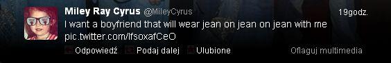Miley Cyrus szuka ch�opaka w nietypowy spos�b? (FOTO)
