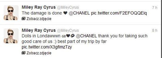 Miley Cyrus u Coco Chanel (FOTO)