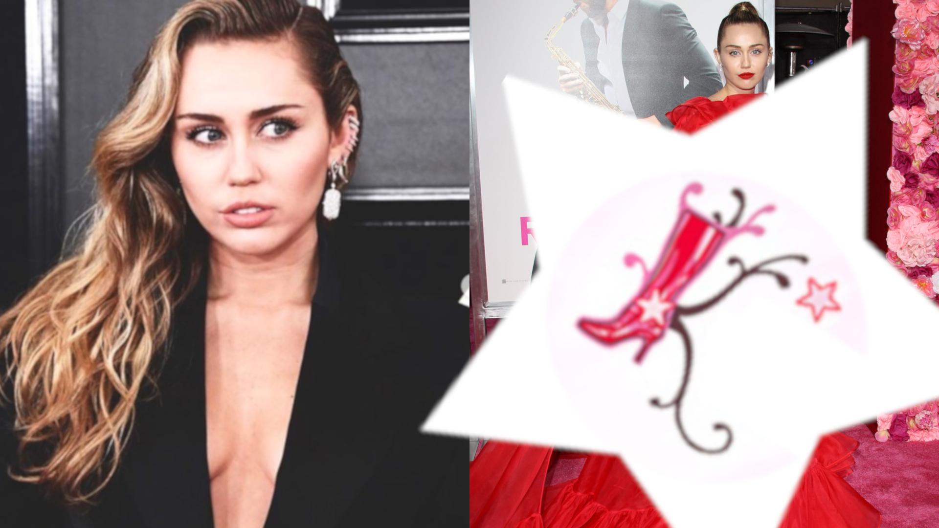 Oszałamiająca sukienka Miley Cyrus. Wyglądała, jak czerwony kapturek