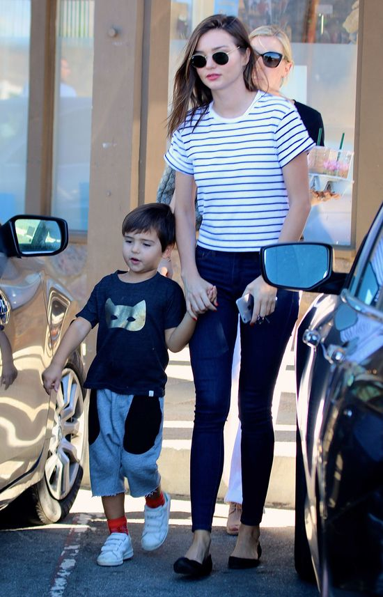 Orlando Bloom i Miranda Kerr RAZEM na spacerze z synem!