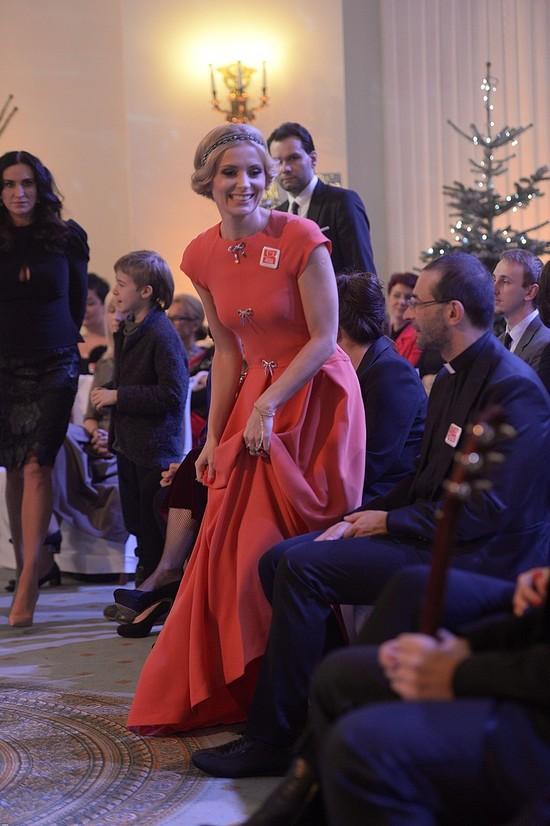 Halinka Mlynkova wyglądała znakomicie w Pałacu Prezydenckim