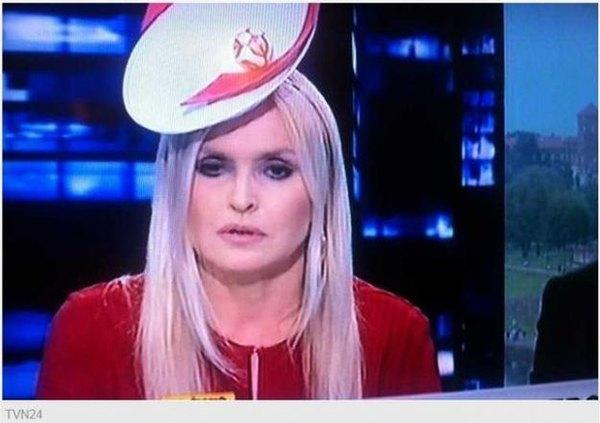 Monika Olejnik w kapelusiku Euro (FOTO)