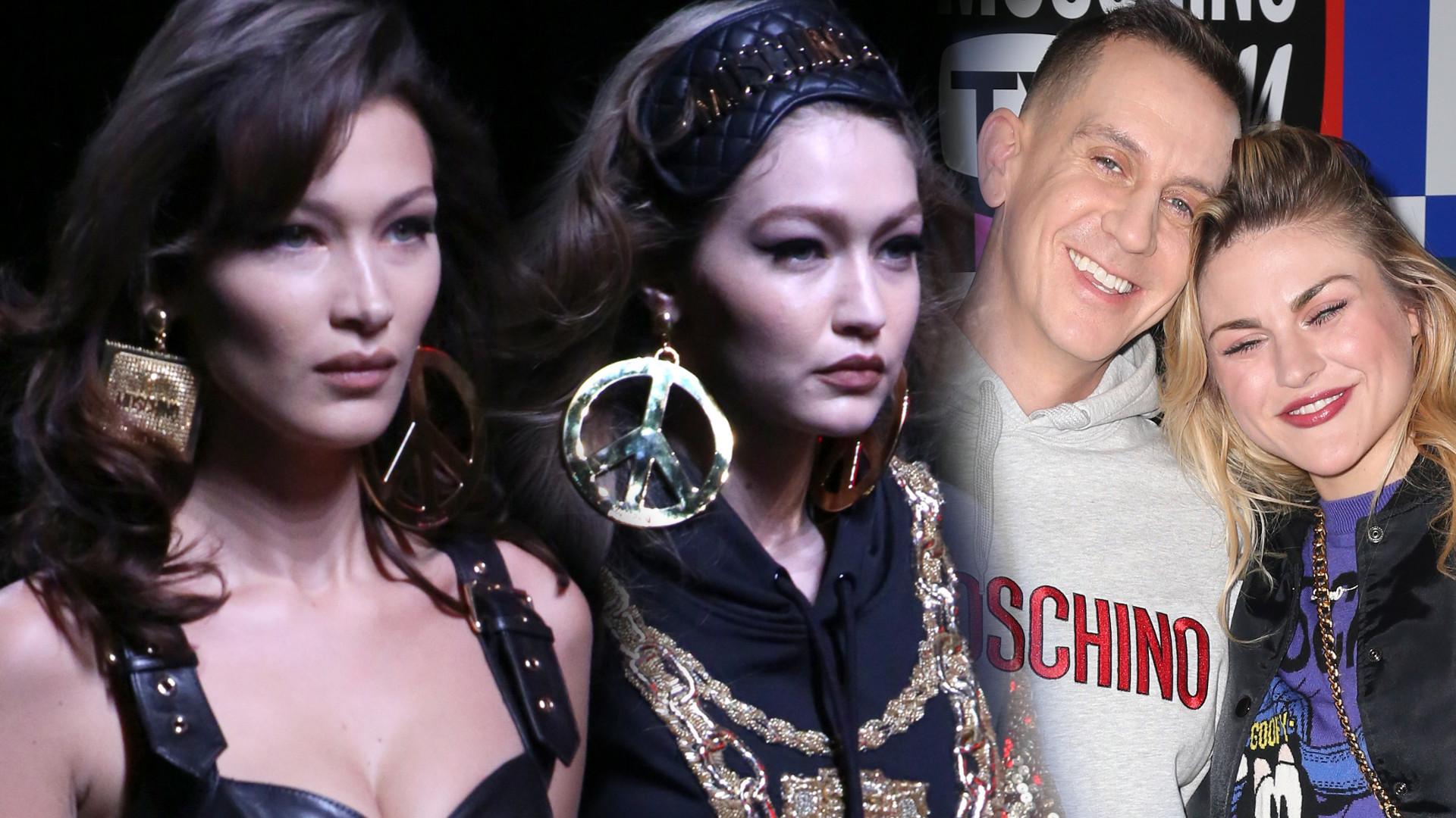 Gwiazdy na pokazie kolekcji Moschino dla H&M – siostry Hadid i córka Cobaina