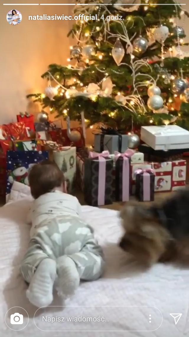 Natalia Siwiec pokazała choinkę, a pod nią mała Mię (Instagram)