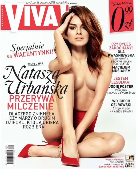 Natasza Urba�ska pokaza�a piersi na ok�adce Vivy! (FOTO)