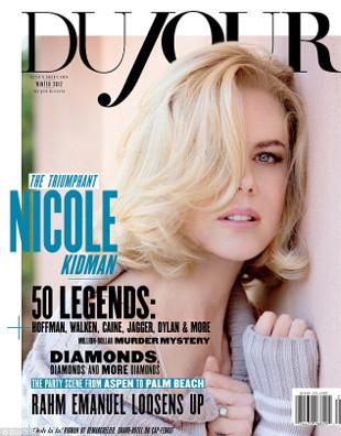Nicole Kidman na okładce DuJour