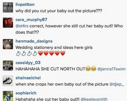 Kim Kardashian skomentowała feralną fotkę z wyciętą Nori