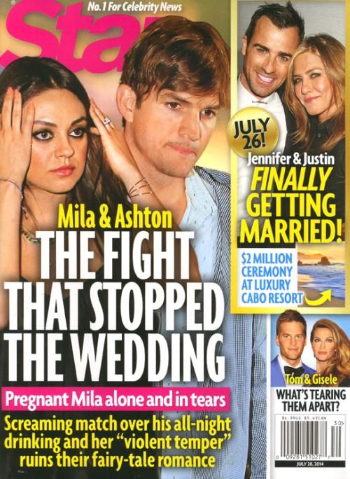 Ashton Kutcher porzucił ciężarną Milę Kunis?